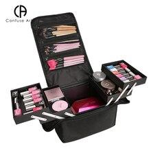 Большая емкость косметичка Многоэтажный Профессиональный портативный чехол для косметики коробка для хранения макияжа