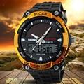 SKMEI 2016 Hombres Deportes Relojes de ENERGÍA SOLAR LED Digital Relojes Militar Reloj de Cuarzo Vestido Reloj 5ATM Impermeable Al Aire Libre Solar