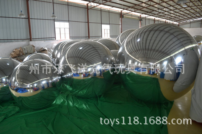 Silver Customized Inflatable Mirror Ball For Advertising Indoor / Outdoor tama 7an
