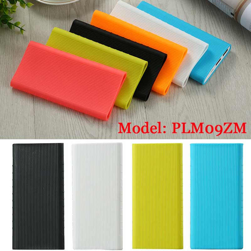 New Silicone Protector Case Cover For Xiaomi Power Bank 2 10000 mAh Dual USB Port Skin Shell Sleeve For Power bank Model PLM09ZM