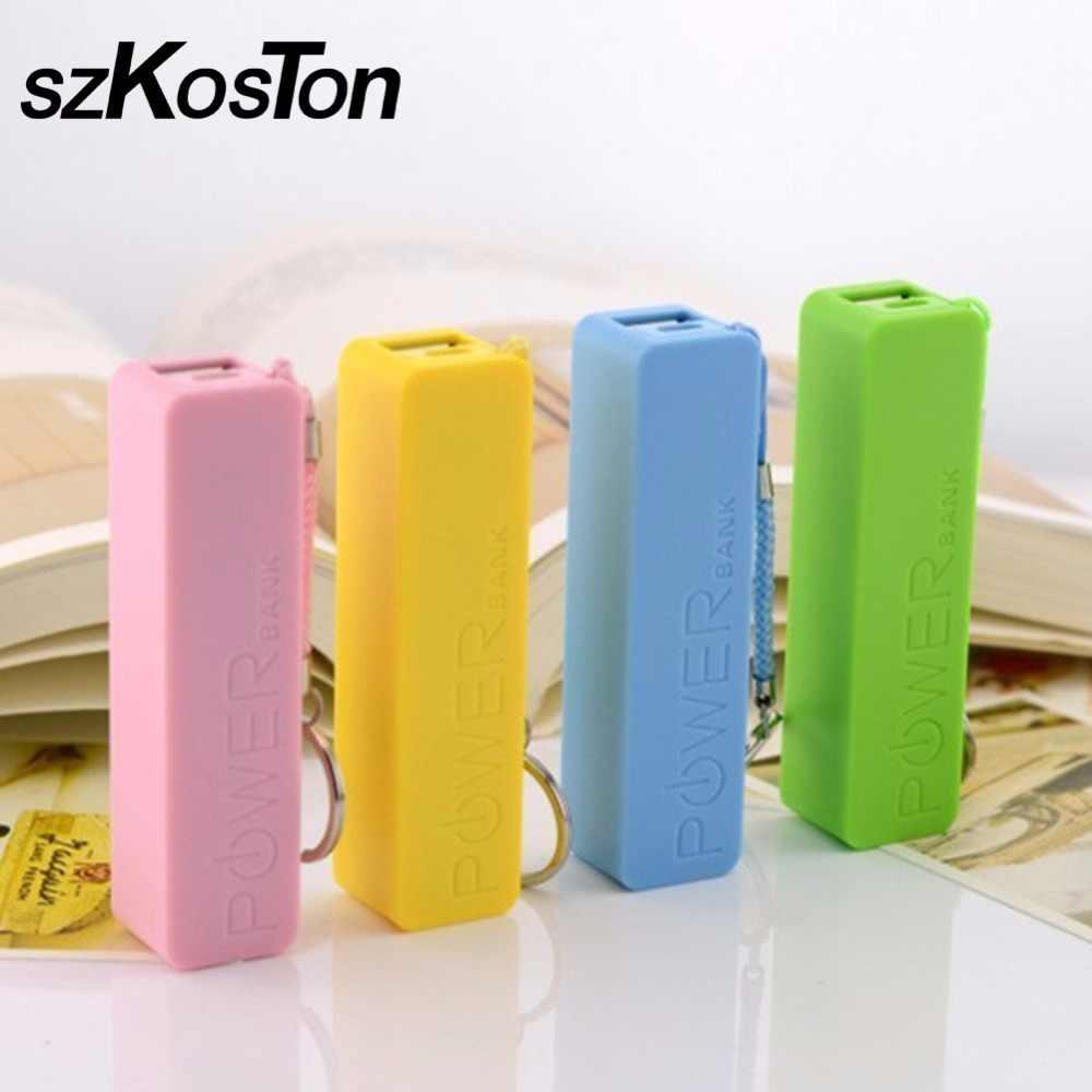Удобство резервного копирования 18650 Батарея Зарядное устройство Мощность Bank корпус USB Батарея коробка для хранения высокое качество милые 6 цветов батареи