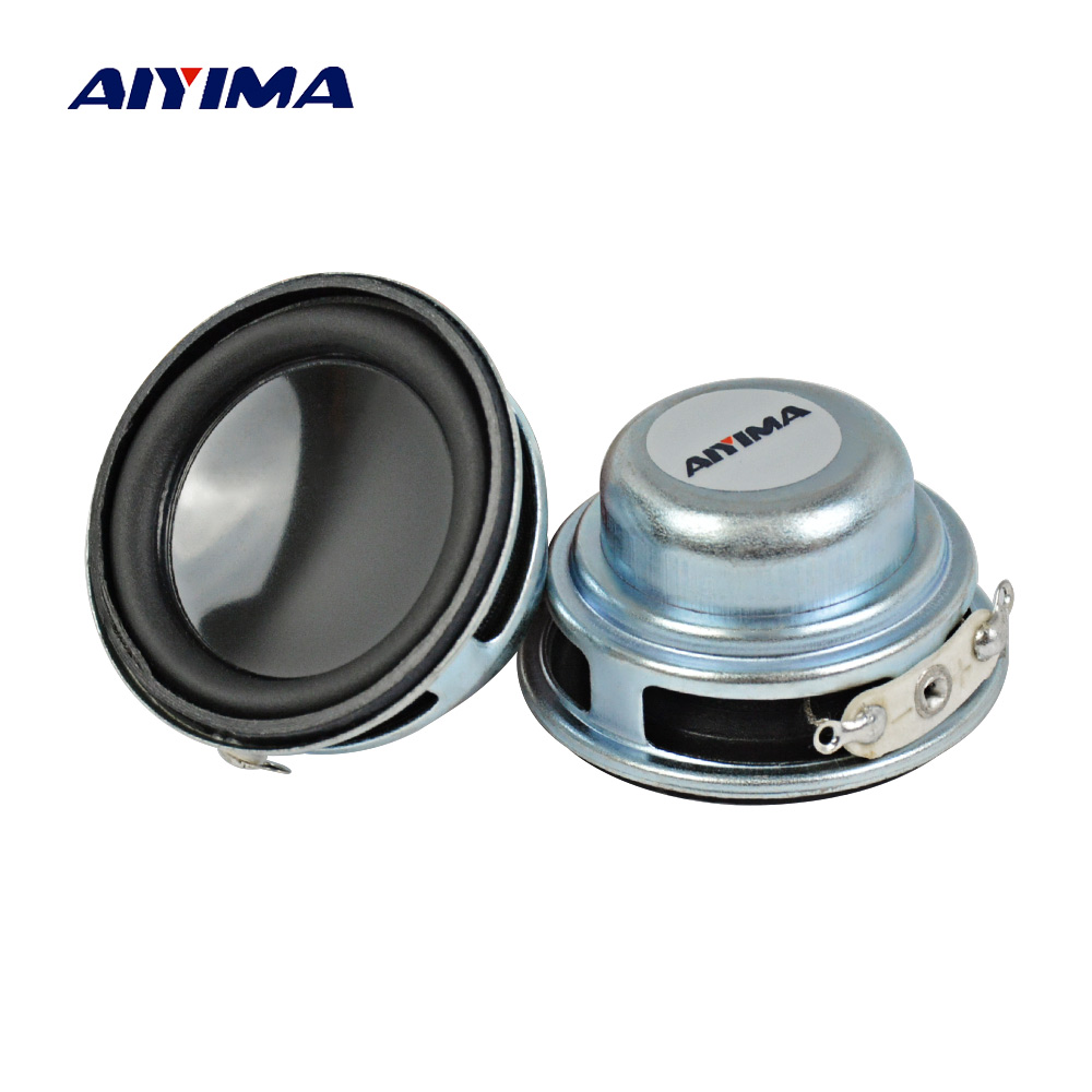 AIYIMA 2Pcs 36MM Mini Audio Portable Højttalere 16Core 4Ohm 3W Full Range Speaker Intern Magnetisk DIY HiFi Stereo Højttaler