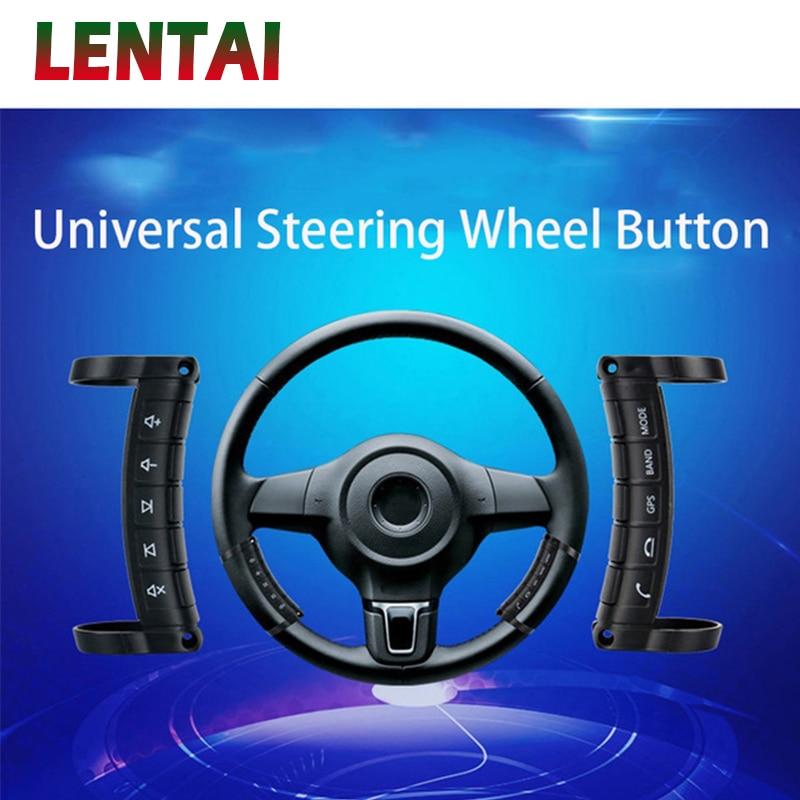 LENTAI 1 Set multi-fonction sans fil volant contrôleur DVD Navigation boutons pour Kia Rio Ceed Sorento Mazda Mini Cooper