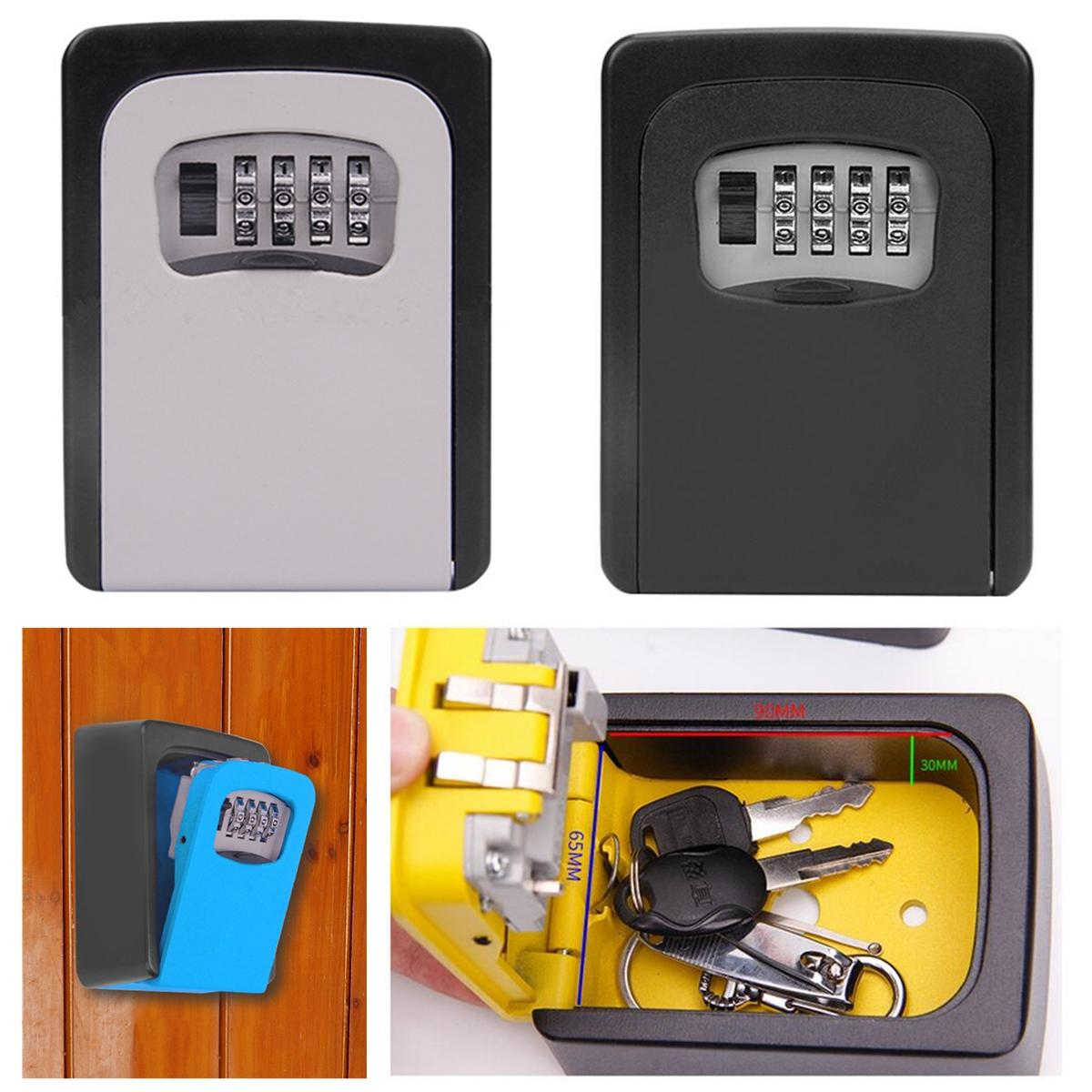 Durable Key Storage Lock Security Box Wall Mount Holder 4 Digit Combination Safe Organizer For Home Office Cassaforte Seguridad