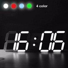 3D Multifunktions Moderne Acryl Digitale LED Tisch Schreibtisch Nacht Wanduhr Alarm Uhr 24 oder 12 Stunde Display tisch uhr led uhr