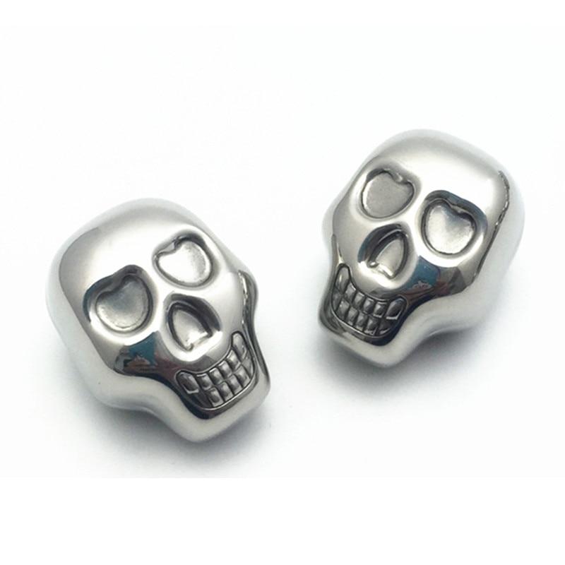 Stainless Steel Skull Ice Cubes