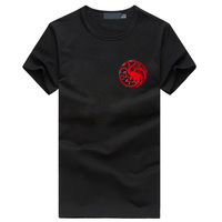 Fire And Blood 3D Cotton Short Sleeve Stark Wolf T Shirt 2017 Game Of Thrones T