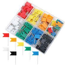 160 штук нажимных штырей карта флаг нажимных штырей, ассорти 7 цветов