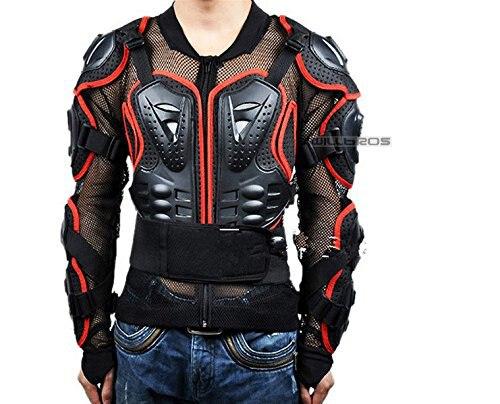 Moto Veste D'armure Complet Colonne Vertébrale Poitrine Protection Á Bandoulière pour Vêtements