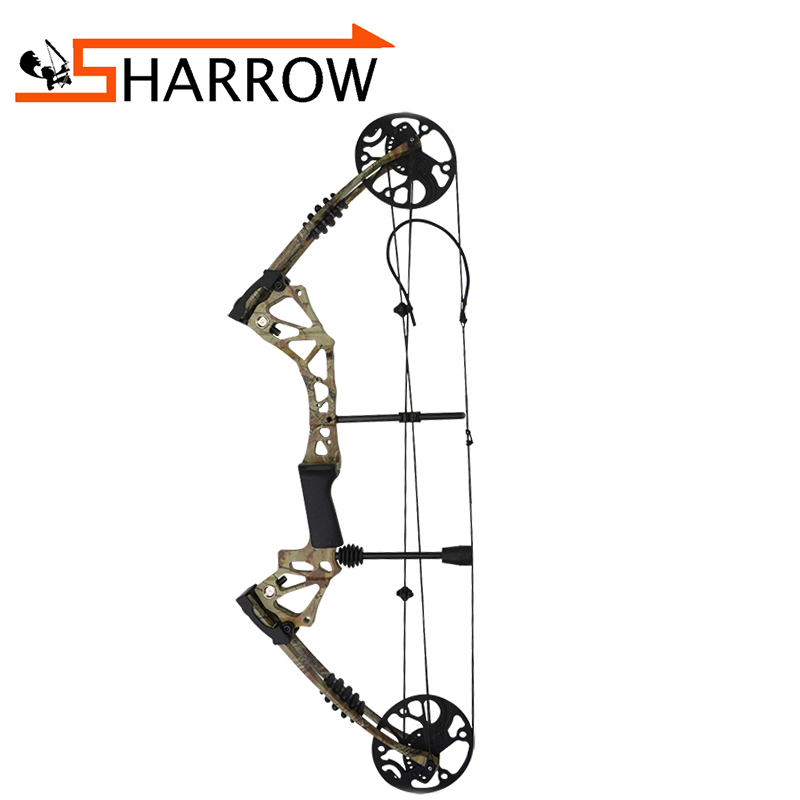 1set 70 15lbs Archery Compound Bow Camo Arrows Hunting Shooting Target Adjustable Accessory