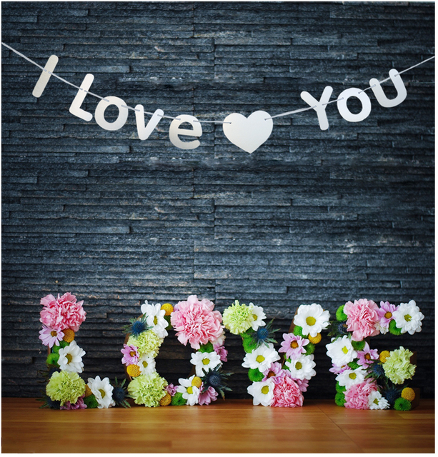 I Love You Banner Propose Marriage Room Hanging Decoration Bunting