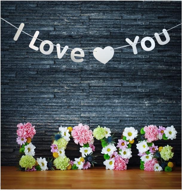 Ich LIEBE DICH Banner Vorschlagen Ehe Zimmer Hängende Dekoration Bunting  Garland Valentinstag Hochzeit Decor Gold/