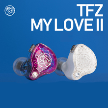 TFZ MY LOVE II In-ear Headphones Bass Dual Circuit Graphene Driver Noise Cancelling Earphone 0.78mm Detachable Cable tfz king ii 2nd dynamic graphene driver hifi in ear monitor earphone iem with 2pin 0 78mm detachable cable kingii