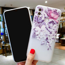 Case 3D Flower Phone Case For on Huawei Honor 8X 8C 8S Honor 8 9 10 lite Shockproof Case For on Huawei P20 P30 Pro P10 Lite(China)