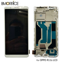 цена на TFT LCD Display For OPPO R11s Incell LCD Touch Screen Digitizer Full Assembly Replacement Black White With Frame 5.99''