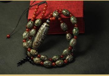 Retro Style Tibetan Nine-eye Necklace Pendants Collares gold necklace men's and women's Designer Jewelry 1