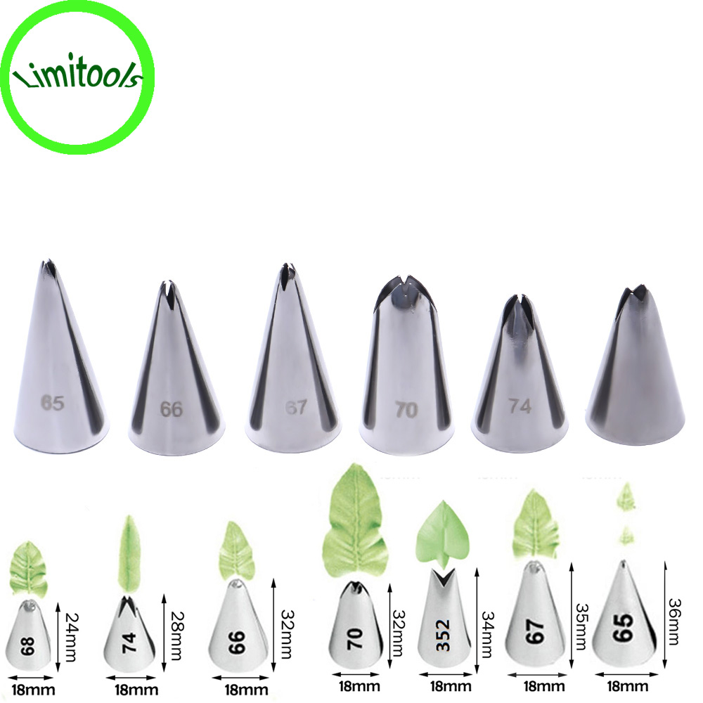 Best price 7 Style Leaf Tip Piping Nozzles Stainless Steel ...