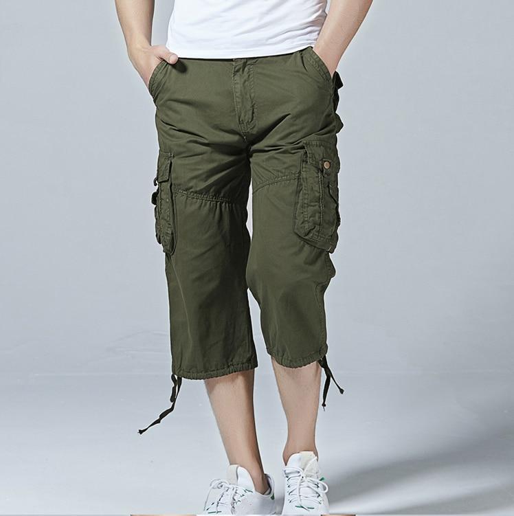 Shorts Men 2018 Brand Mens Bermuda Short Camouflage Cargo Shorts Man Cotton Loose Tactical Short Pants No Belt Homme Panties