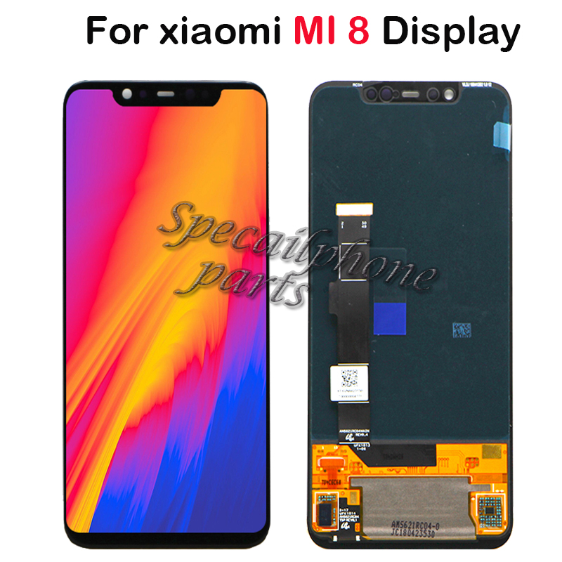Super Amoled LCD for Xiaomi MI 8 LCD xiaomi 8 lcd Touch Screen Digitizer replacement for