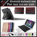 Универсальный Bluetooth Keyboard Case Для Lenovo Tab 2 A10-70F/L А10-30 X30F 10.1 дюймов Tablet PC, бесплатный резные местный язык + 3 Подарок
