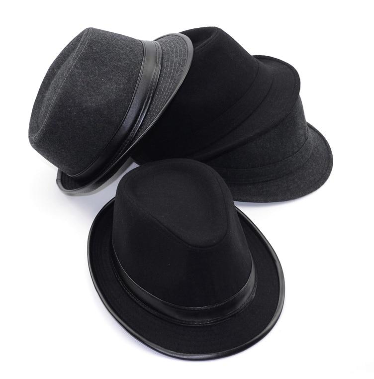 [AETRENDS] 2017 İngiltere Stil Fedora Caz Şapka Erkekler Vintage - Elbise aksesuarları - Fotoğraf 6