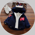 Cartoon Boy jackets, children's winter baby clothing, dinosaur modeling blue boy's coat, boys baby snow wear 0-36mother
