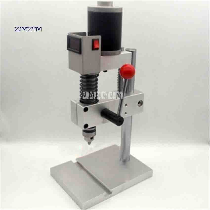 DIY Precision Drill Small Bench Drill Aluminum Alloy Tapping Machine B10/ JTO/ B12/ ER11 Miniature Bench Drill Chuck Hot Sale the second generation miniature precision bench drill tapping tooth machine c00106