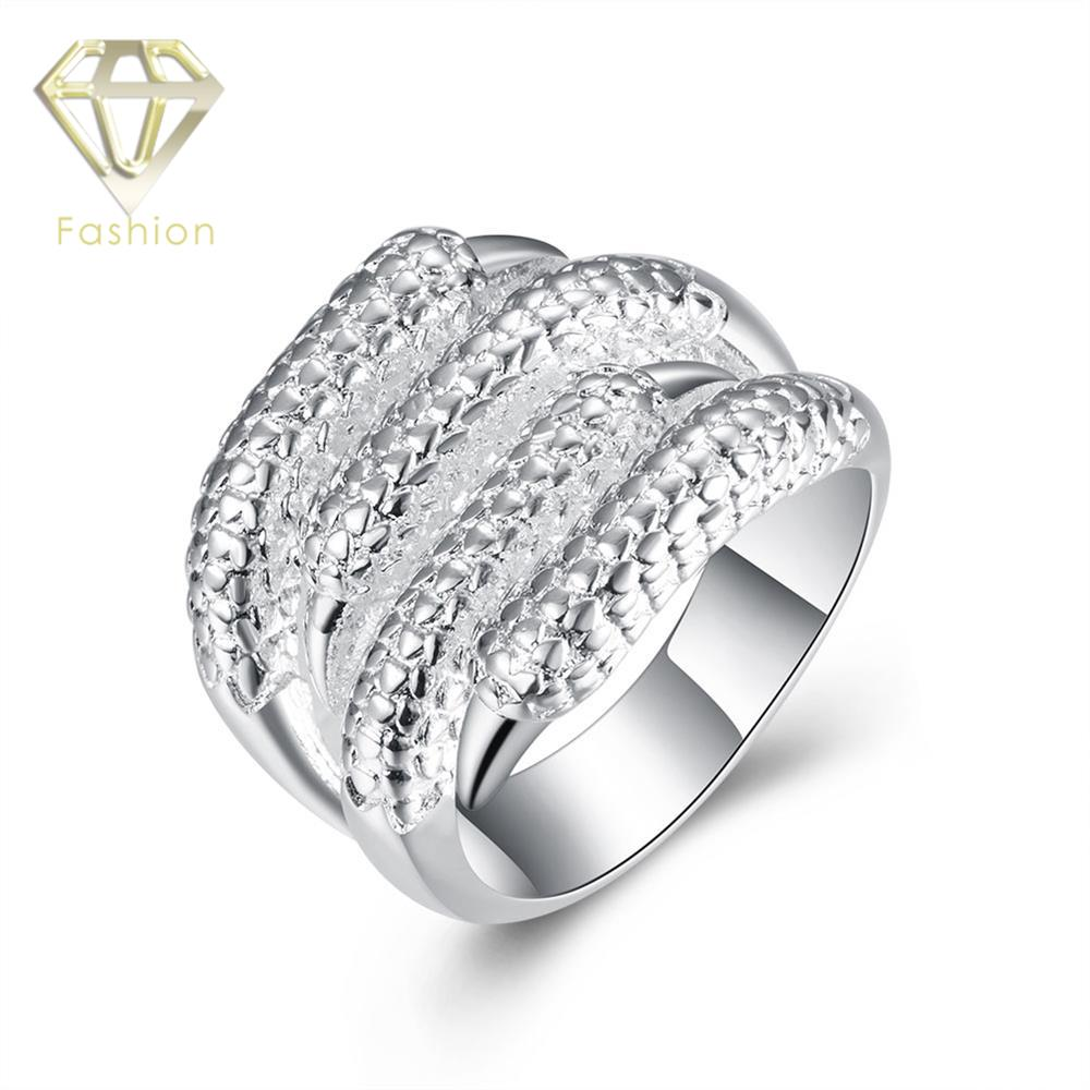 Engagement Rings Design Your Own New Arrival Punk Style Paw Shaped Silver Plated Ring Creative