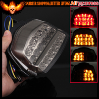 Smoke Color Motorcycle Integrated LED Turn Signals Indicator Rear Tail Light For Honda CBR 1000 RR