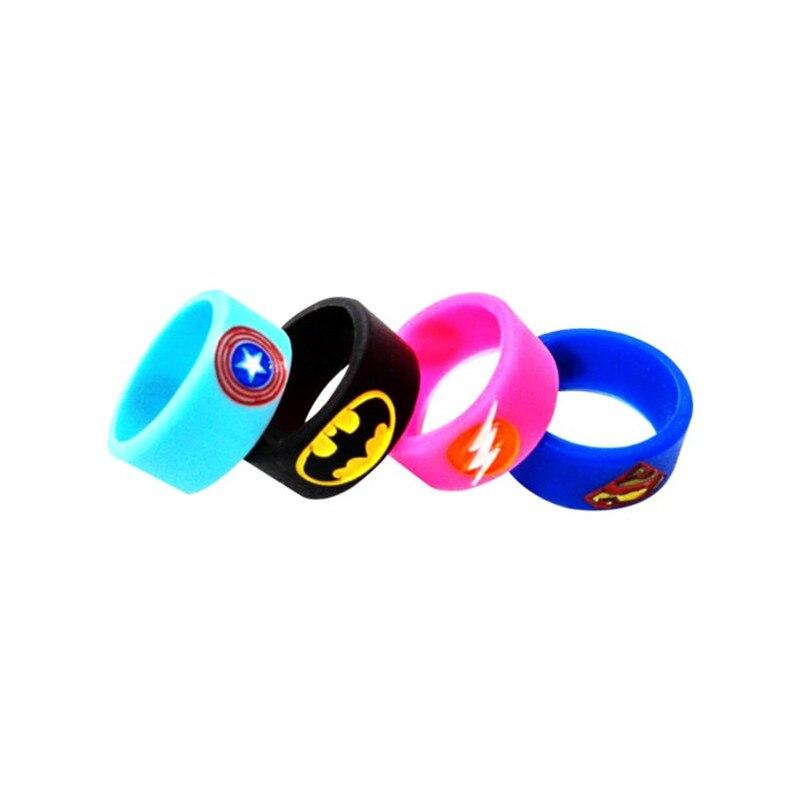 4pcs/lot Hero Silicone Vape Band Ring Non Slip silicone ring decorative and protection vape rda/rba atomizer mechanical mod band