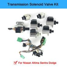 JF011E RE0F10A F1CJA Transmission Solenoids Kit Valve Body Solenoids For Nissan Altima Sentra Dodge complete timing chain kit for 02 06 nissan altima sentra 2 5l dohc qr25de