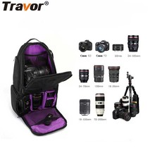 Travor 2017 Newest DSLR Camera Photo Bag 33*25*15 CM Camera Shoulder Bag Case For Canon Niko  Sony Olympus With Waterproof Case