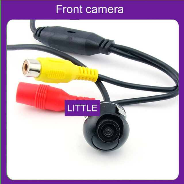 Front camera 360 degree Rotation Universal camera for car front/side down/side front view (with normal image,not mirror image)