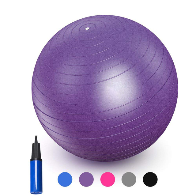 Nieoqar Sports Yoga Balls Bola Pilates Fitness Gym Balance Fitball Exercise  Pilates Workout Massage Ball 55cm ea395b0cce016