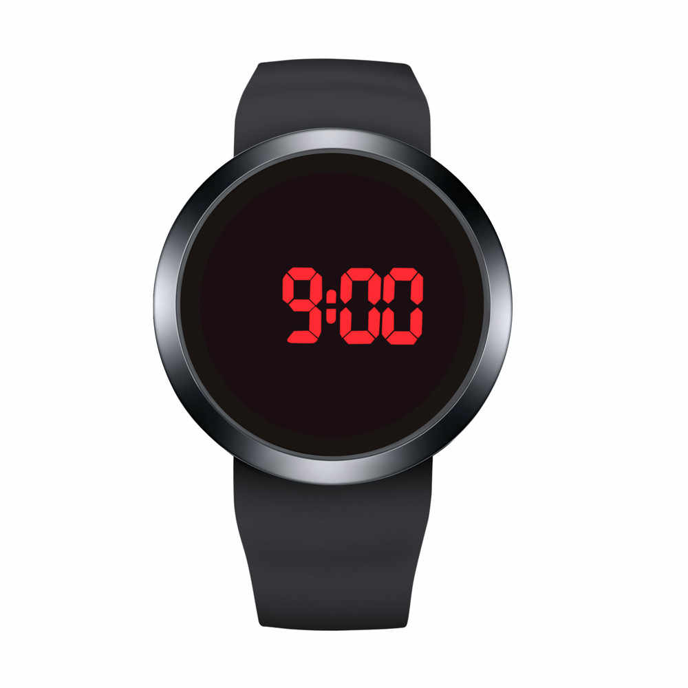 Hot Koop Fashion heren Horloges Mode Waterdichte Mannen LED Touch Screen Dag Datum Siliconen Polshorloge Outdoor Sport Horloge relogio