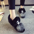 New Fashion Cartoon Black Grey Flat Women Snow Boots Winter Warm Casual Shoes Faux Fur Ladies Cotton Shoes WSH959