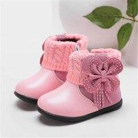 Baby Shoes Primo Camminatore Invernali In Pelle Fondo Morbido Del Bambino Calzare antiscivolo Calzature Pattini di Bambino Svegli delle Ragazze Prima camminatori 60A1044