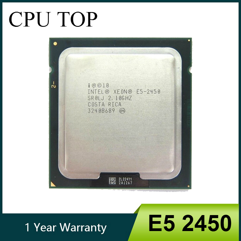 Intel Xeon E5 2450 SR0LJ 2 1GHz 8 Core 20M LGA1356 E5 2450 CPU processor