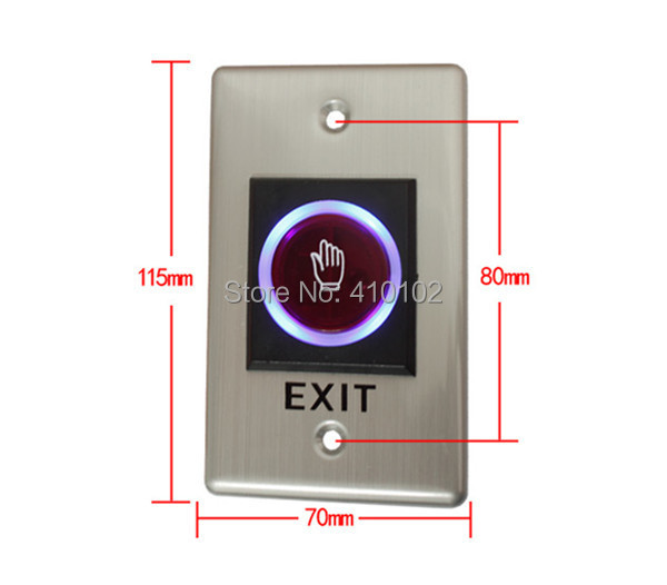 Infrared Sensor  Door Exit Button Respond Qulickly Access Control SystemS Stainless Steel Door Access Switch