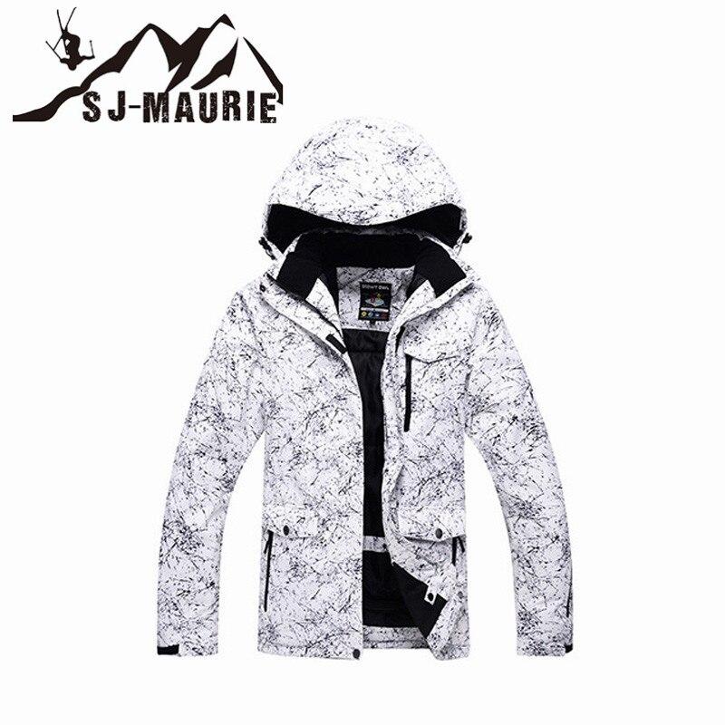 Sj-maurie hommes femmes veste de Ski Snowboard neige veste d'hiver manteau imperméable coupe-vent Super chaud Snowboard veste de Ski