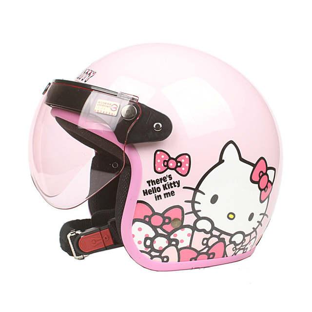 ac7449277 New arrival Womens motorcycle helmet Vintage Hello kitty helmet Girls  scooter half helmet Pink color moto casco-in Helmets from Automobiles &  Motorcycles on ...