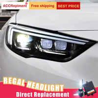 2Pcs LED Scheinwerfer Für Buick regal 2018 led auto lichter Engel augen xenon HID KIT Nebel lichter LED Tagsüber laufende Lichter