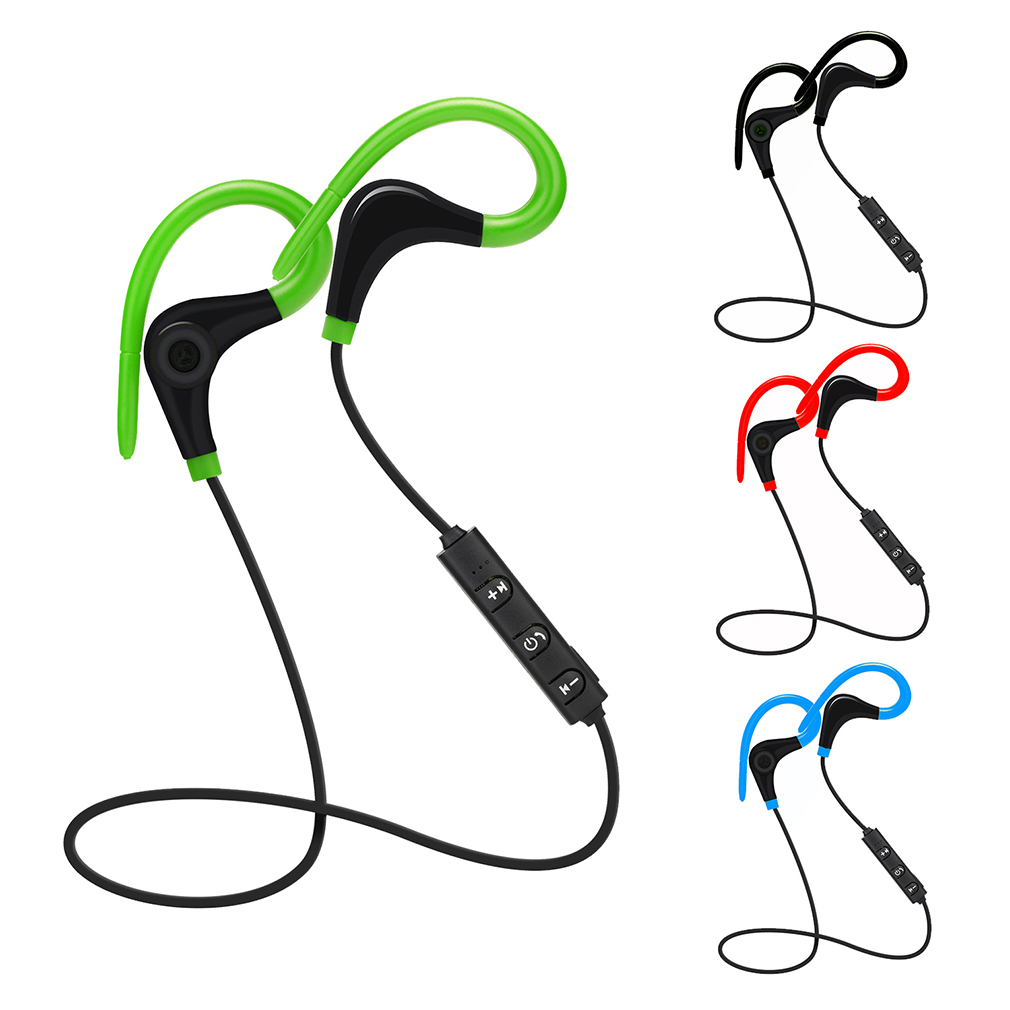 2017 AX-01 Wireless Bluetooth V4.1 Super Stereo Bass Earphone Ultimate Comfort Sport Running Noise Reduction Ear Hook Earphone new sport running bluetooth wireless ear hook earphone super stereo bass headset noise reduction lot ib for android ios phones