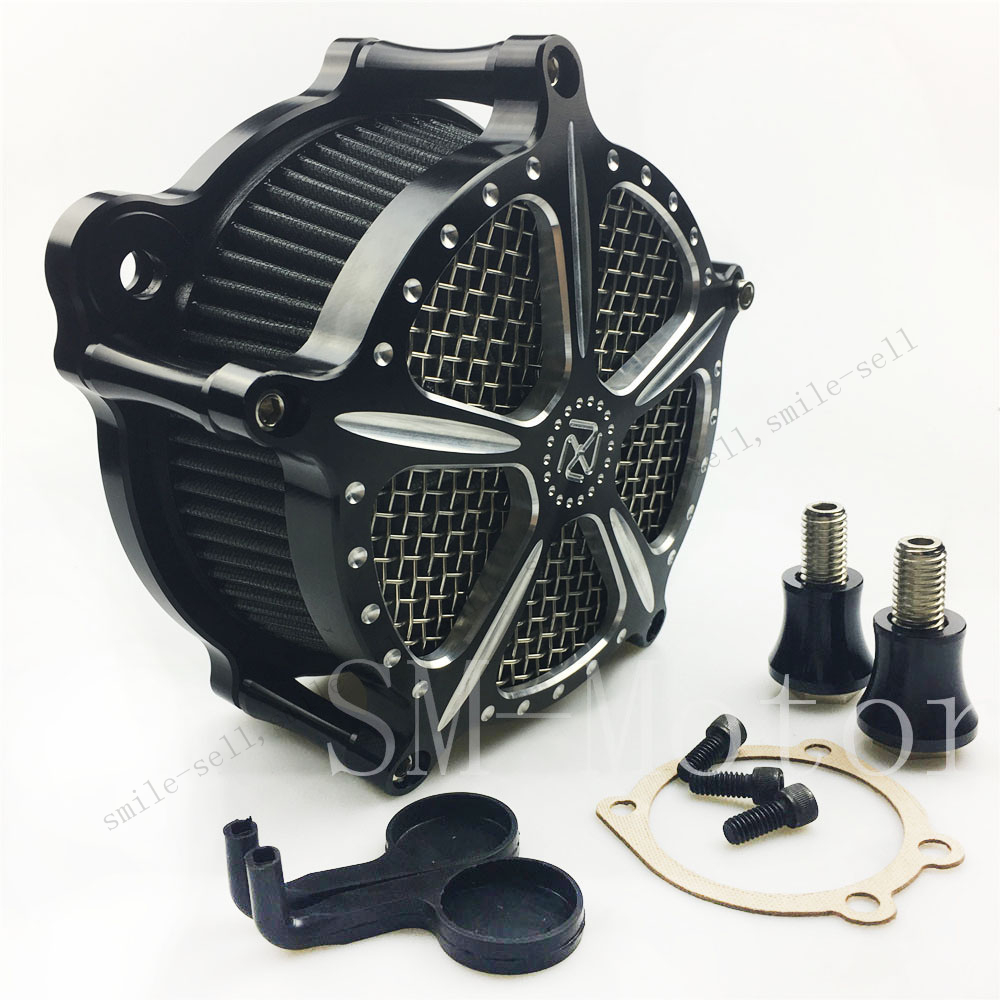 Motorcycle CNC Deep cut Air Cleaner Intake Filter system for Harley Sportster XL 883 1200 2004-2015