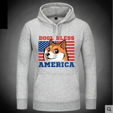 2016 New Women/Men Funny Head doge Hoodies God dog/shiba coat Pocket Doge Sweatshirts