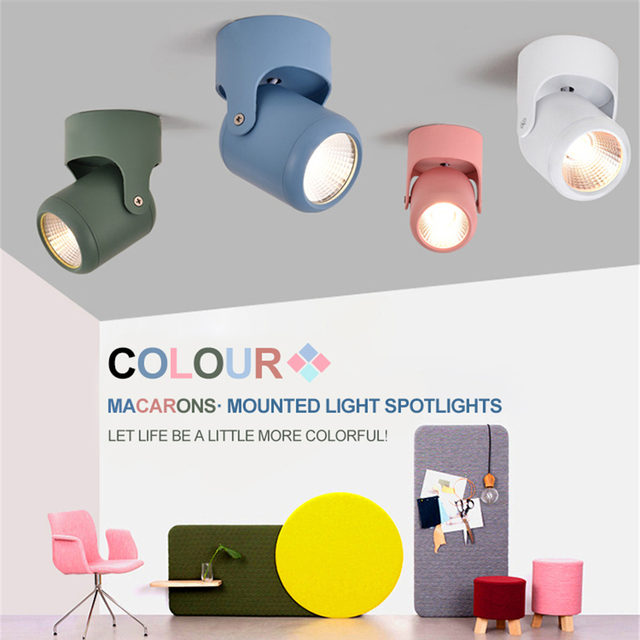 Nordic Macaron adjustable LED wall light Creative Multi-color wall lamp For restaurant clothing store background KTV bar