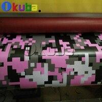Большой цифровой розовый тигр камуфляж виниловая Стикеры Обёрточная бумага пленки, печатные виниловые Клей автомобилей грузовых Обёрточн