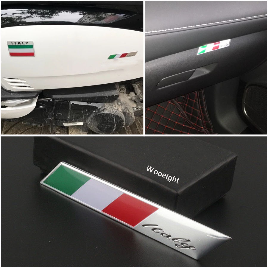 Black 3D Metal New Italian Flag Alfa Romeo Snake Car Emblem For Car Styling Fender Trunk Lid Nameplate Sticker Decoration
