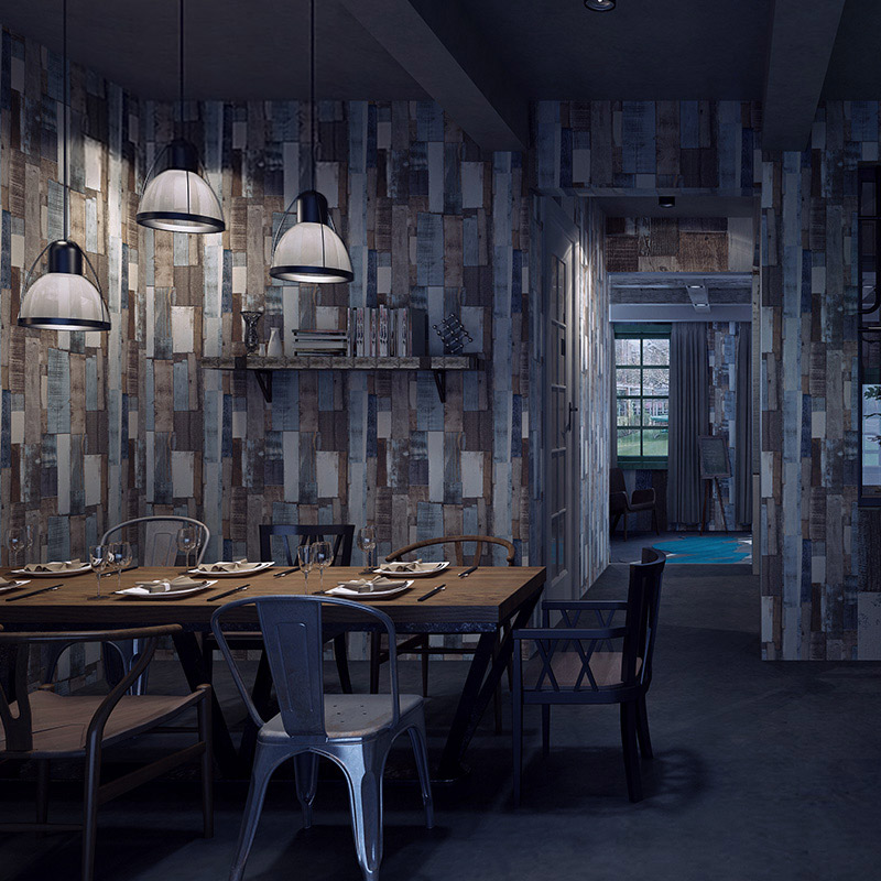 Retro Colored Wooden Striped Wallpaper Vintage Wall Paper for TV Background Bedroom Bedroom Living Room Study Room Bar Cafe blue earth cosmic sky zenith living room ceiling murals 3d wallpaper the living room bedroom study paper 3d wallpaper