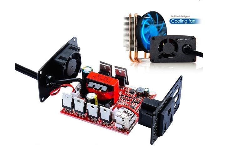 300 W Auto Inverter 12 V a 220 V Convertitore di Potenza Ripetitore USB 4.2A
